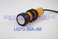 Бесплатная доставка Ультразвуковой измерение расстояния комплект US70 30A 3M цифровой аналоговый сигнал, 4 20MA выход ультразвуковой датчик