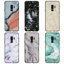 ICE MARBLE black marble Pattern Soft Silicone Black Cellphone Cases for Samsung S7 S7edge S8 S8Plus S9 SPlus Note 8