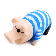 New Design Pet Dog Cat Toys Chew Rubber Pirate Pigs Sound Toy For Dog Pet Mascotas Perros Honden Speelgoed Hund Cani Chien 16cm