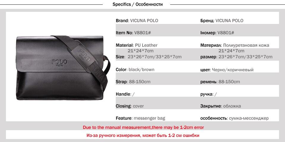 a81e5f1920b shop now Casual Messenger Bag High Quality Men's Brand Black/Brown Man  Cross-body Bags For Travel