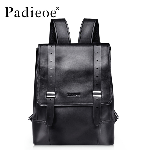 2017 The latest woman s bag leather backpack luxury lady backpack fashion  shoulder bag men and women black two belt 8790f8028c699