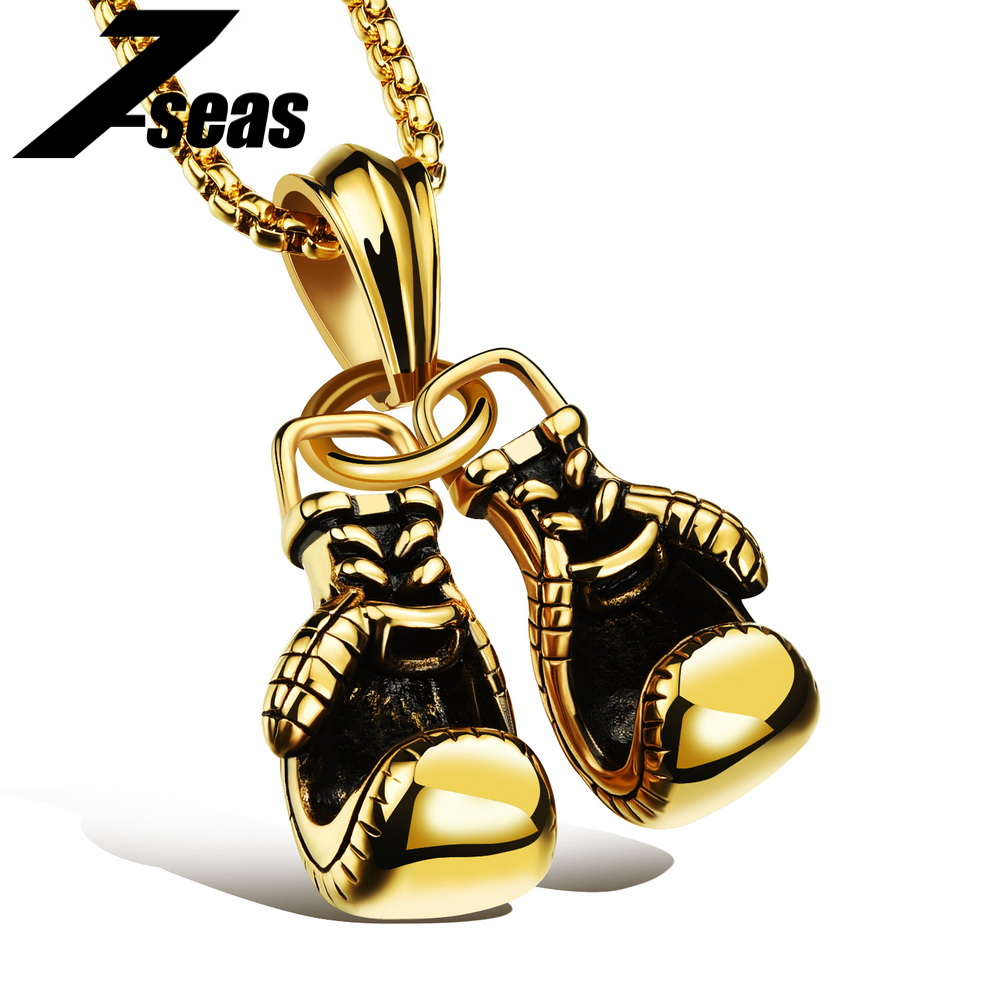 Fashion Sporty Boxing Gloves Male Jewelry font b Pendant b font font b Necklace b font
