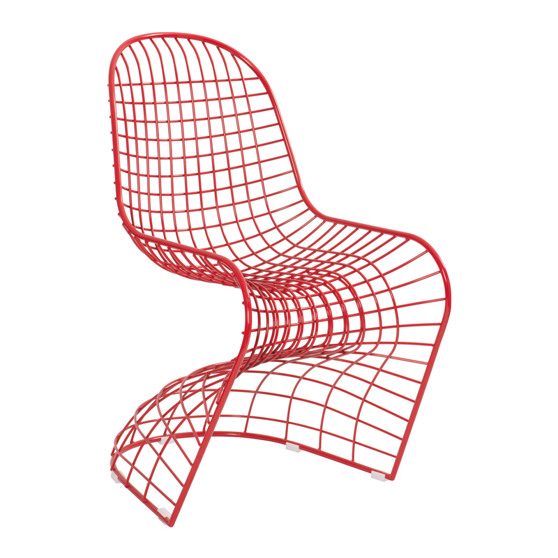 Modern Dining Room Designer Chair Red Color Free Shipping
