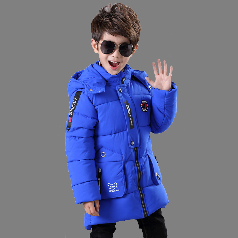 все цены на Children's clothing boy cotton coat 2018 new baby winter coat jacket thick coat children down jacket cotton men's long section онлайн