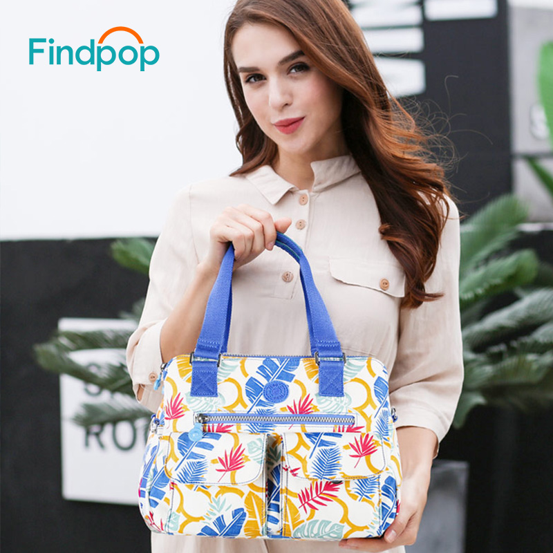 Findpop Fashion Handbags Large Capacity Totes For Women Crossbody Bag Waterproof Nylon Shoulder Bags Floral Bolsa Feminina 2017 forudesigns casual women handbags peacock feather printed shopping bag large capacity ladies handbags vintage bolsa feminina