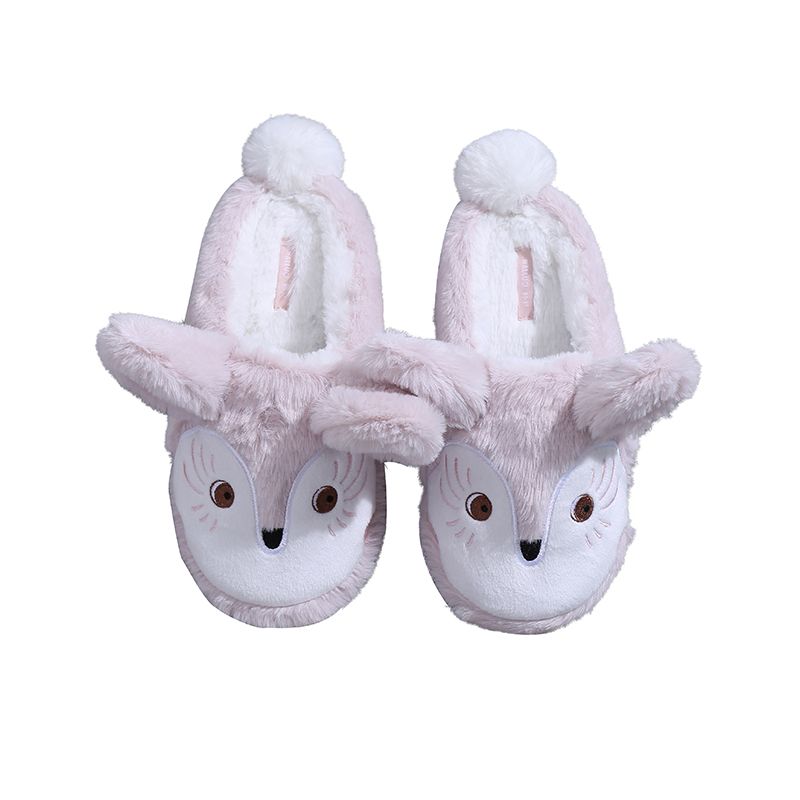 479156eb636044 US $11.6 21% OFF|HALLUCI Slippers Kawaii fox home slippers women shoes  indoor funny plush slides women rubber soft chinelo rabbit wool pantufa-in  ...