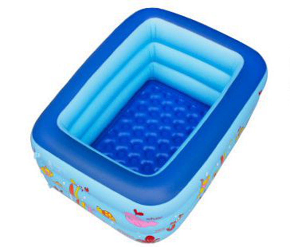 inflatable pool rectangle 3layer cartoon children splashing sand tub portable baby swimming pool kid bathtub 160x120x60cm in pool accessories from sports - Rectangle Inflatable Pool