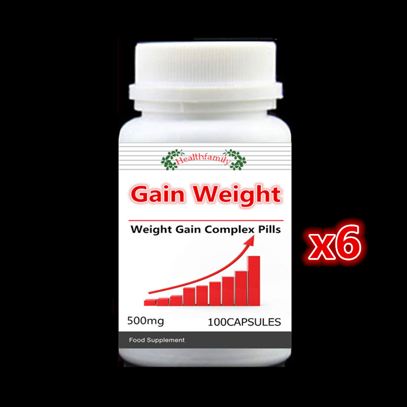 Quick Muscle Mass Growth! Weight Gain Supplement Add More Weight - 6 bottle 600pieces- Suit for all people ,Free shipping