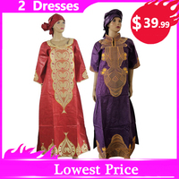 MD african dresses for women plus size riche bazin dashiki dress traditional african print clothes women south africa headwraps
