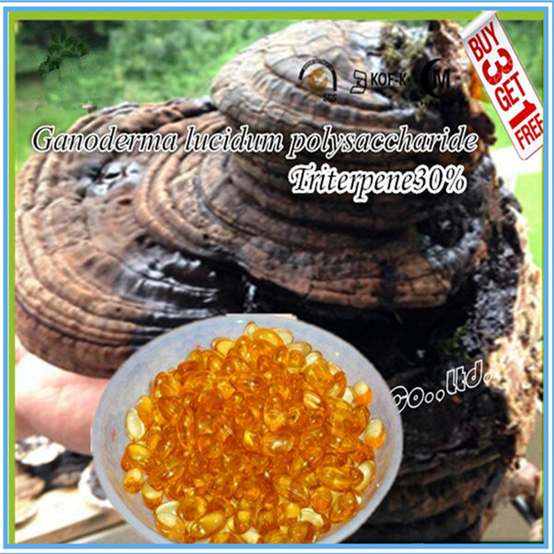 (500mg*100softgels/bag)Duan-Wood Ganoderma Lucidum/Reishi Spore Extract Oil Softgels, Triterpene30% Buy 3 Get 1 Free