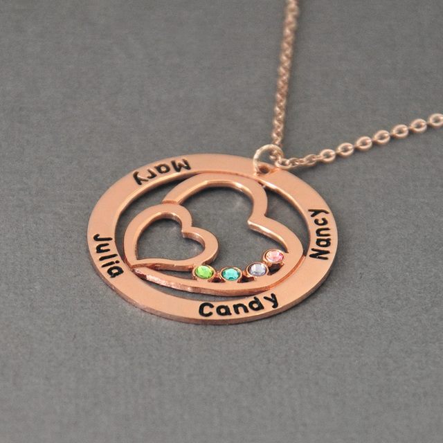 Couple's Name Pendant and Jewelry