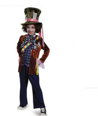 Alice In Wonderland Halloween Costumes Kids.Us 40 84 5 Off Alice In Wonderland 2 Mad Hatter Cosplay Costume Kids Costumes For Halloween Carnival Party Cosplay Clothes In Boys Costumes From