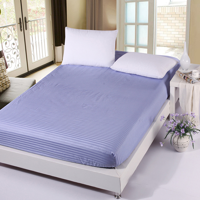 ... 100% Cotton Fitted Sheets Single Twin Full Queen King Size Bedsheets  Elastic Mattress Cover Protective ...
