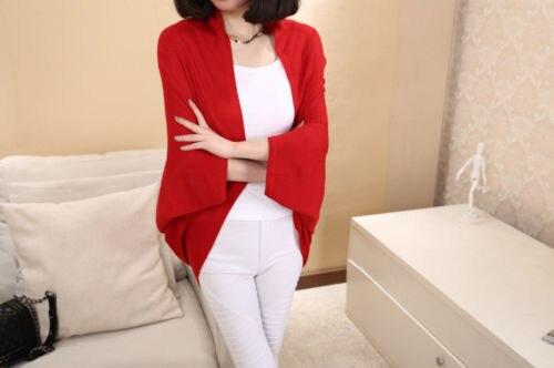 Korea Loose Shawl Batwing Sleeves Lady Knit Sweater Coat Woolen Women Cardigans cardigan sweater poncho Coat Jacket Outwear