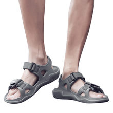 59975607a2c37 men shoes 2019 Summer Outdoor Mens Flats Casual Beach Athletic Shoes  Non-slip Sport Sandals
