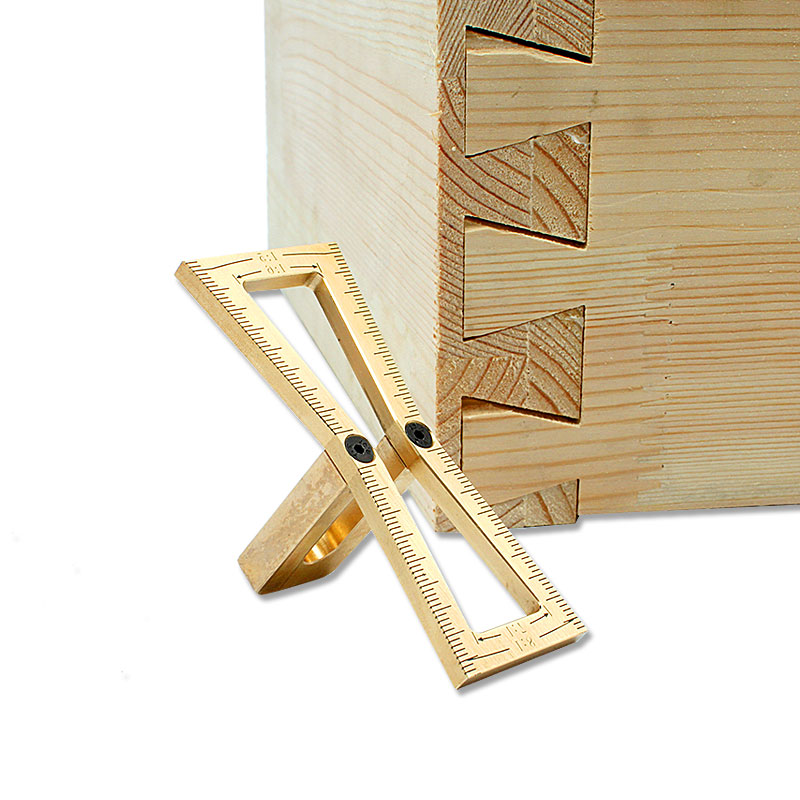 Copper Dovetail Marker, Hand Cut Wood Joints Gauge Dovetail Guide Woodworking Tools for Carpenter