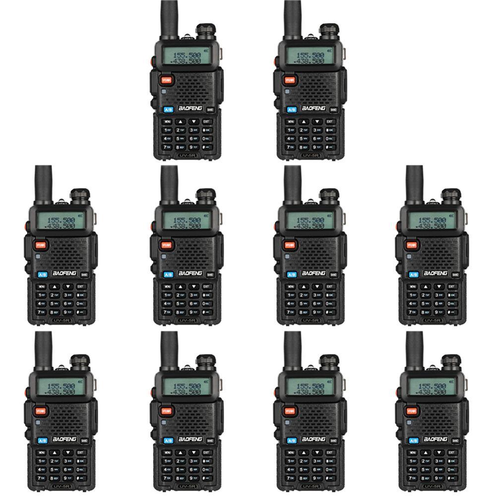 10Pcs Bao Feng UV-5R Walkie-Talkie Wholesale Baofeng UV5R CB Radio VHF UHF Dual Band Two Way Radio 5W  Ham Radio Spain Germnay