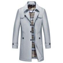 Prowow Jacket Mens Long Sleeve Business Leisure Windswear Garment 9XL men trench coat  windbreaker long jacket for