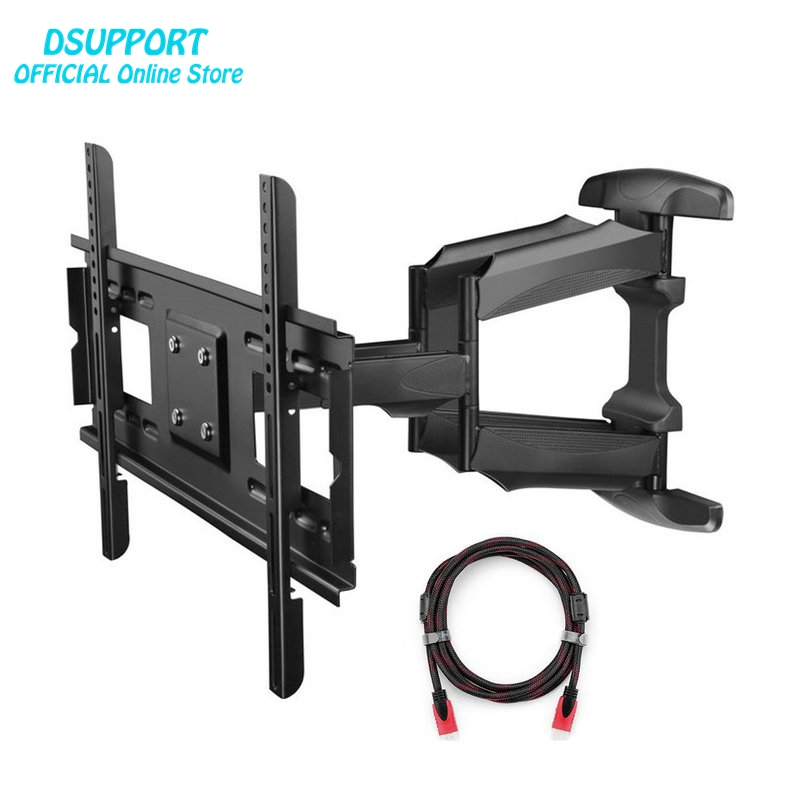 Articulating Full Motion TV Wall Mount Bracket for 32-75 LED LCD Plasma TVs up to 165 lbs with VESA up to 600x400 mm new universal adjustable tilt tilting tv wall mount bracket for samsung lcd led plasma max 165 lbs 23 37inch