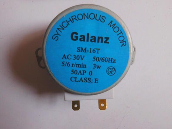 Бесплатная доставка, планшетофон для микроволновой печи, поворотный стол, двигатель, синхронный двигатель SM16T AC30V для микроволновой печи Galanz