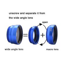 Wide Angle Macro Fisheye Lenses Kit 3 in 1