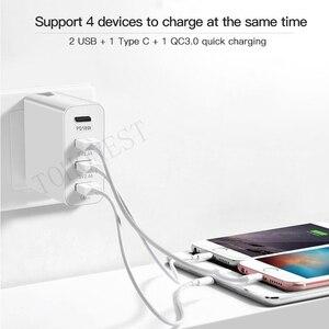 Image 4 - 48W di CONTROLLO di qualità 3.0 Caricabatterie Rapido 3.0 PD Tipo C USB Caricatore Della Parete Caricabatterie per il Samsung iPhone Huawei Tablet Veloce US EU UK AU Spina di Adattatore