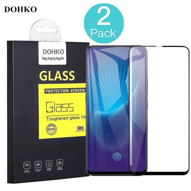 2 PACK DOHKO For VIVO NEX Protective Tempered Glass  2.5D 0.26mm HD Full Cover Screen Protector For VIVO NEX S original