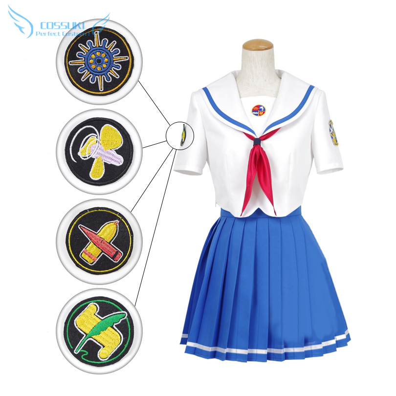 High School Fleet Navigation Section All Members Daily Clothes Cosplay Costume , Perfect Custom For You !