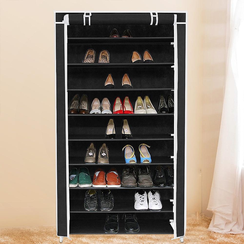 Assemble:  Non-woven Fabric Storage Shoe Rack Hallway Cabinet Organizer Holder 9 Layers Assemble Shoes Shelf DIY Home Furniture - Martin's & Co