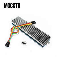 5PCS MAX7219 Dot Matrix Module For Microcontroller 4 In One Display with 5P Line