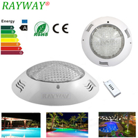 Rayway High Quality Stainless Steel Wall Mounted 54W RGB 432 Leds Swimming Pool Light Pond Fountain