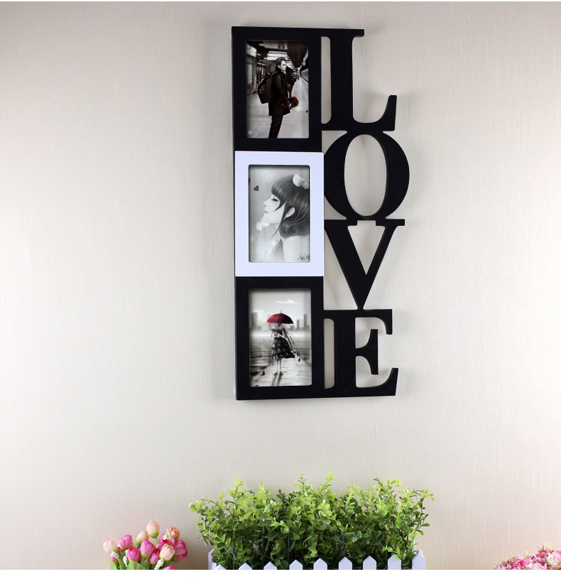 Wood Frames for Paintings LOVE Style Wooden Frame Unique Gift ...