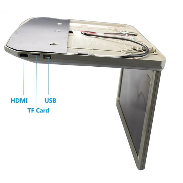 MP5 Player 15,6 Zoll 1080P HD Video Digitale Wide Screen Ultra Slim Touch-Taste Dach Montieren Monitor Mit HDMI USB SD FM Auto TV