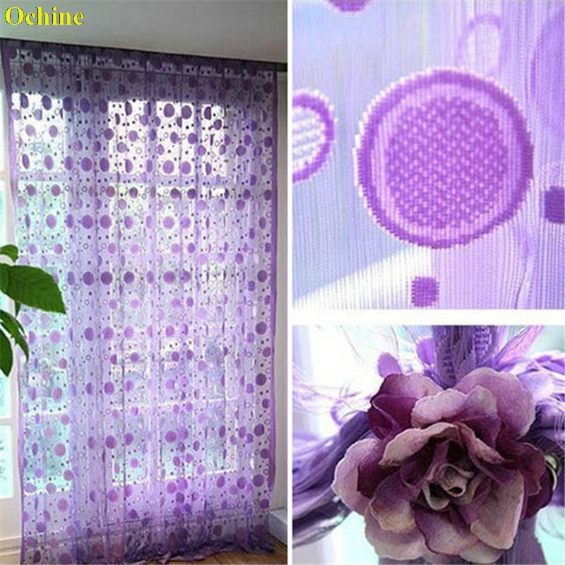 OCHINE Circle Line String Door Curtain Tassel Windows Room Various Color Divider Curtain Tulle Curtains