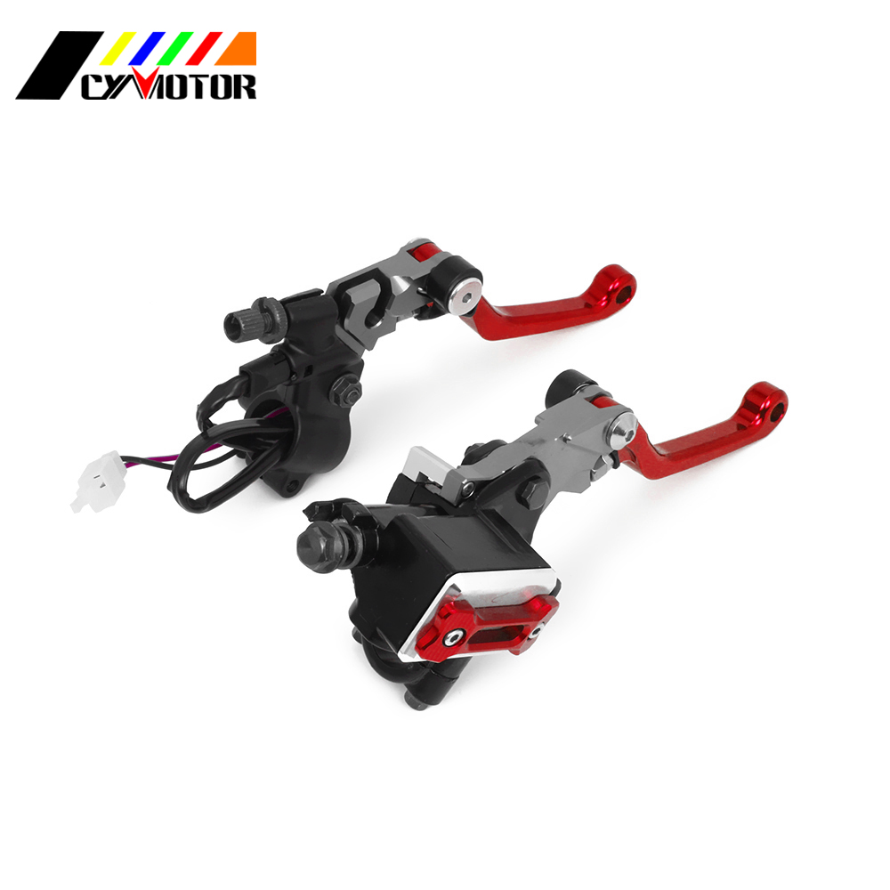 Motorcycle 7/8 CNC Front Brake Clutch Master Cylinder Lever Set Reservoir Pump For CR CRF WR WRF KX KXF KLX YZ YZF XR RM RMZ цена