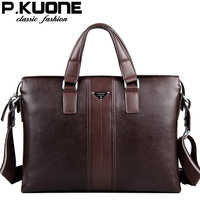 100 Cowhide Men S Business Briefcase Genuine Leather Man Vintage Cross Body One Shoulder Computer Bag
