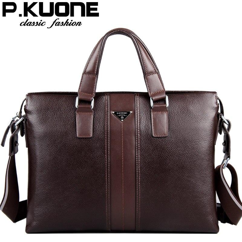 Luxury leather computer bag