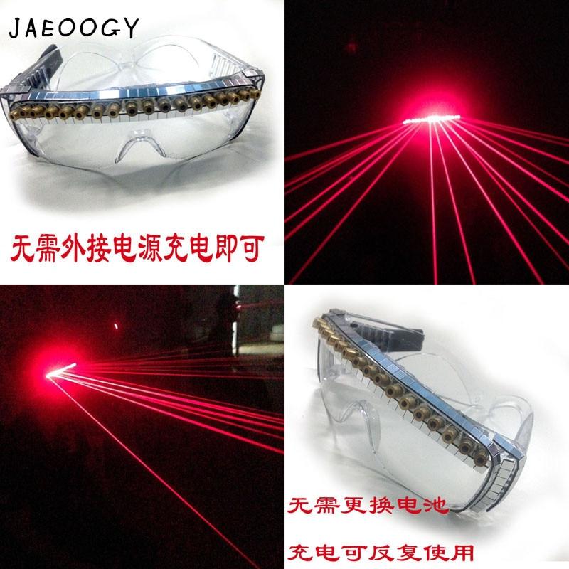 Custom bar laser laser glasses, singer DJ, performance gloves, LED luminous glasses, nightclubs, luminous clothing