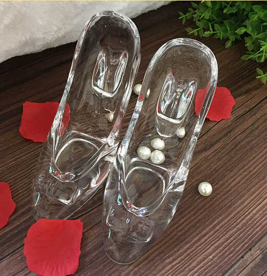 2018 Cinderella's Glass Slipper Ornaments Transparent Crystal High-heeled Send Girlfriend Girlfriends Wife Birthday Gift