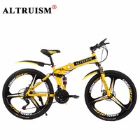 Altruism X9 Pro Folding Bicycles For Men 24 Speed 26 Inch Steel Mountain Bike Bicycle Downhill
