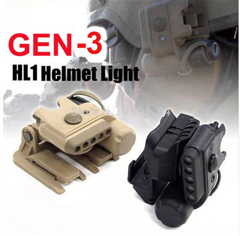 Evolução da noite capacete tático luz conjunto
