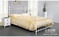 Shell de ferro cama de casal cama de ferro cama de 1.5 metros 1.8 americano Pastoral