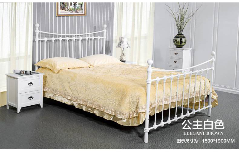 Shell iron princess bed double bed single 1.5 meters 1.8 European American Pastoral student bed iron bed стоимость