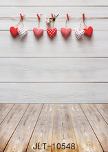 SHANNY Vinyl Custom Valentine day Photography Backdrops Prop Wooden and floor Theme