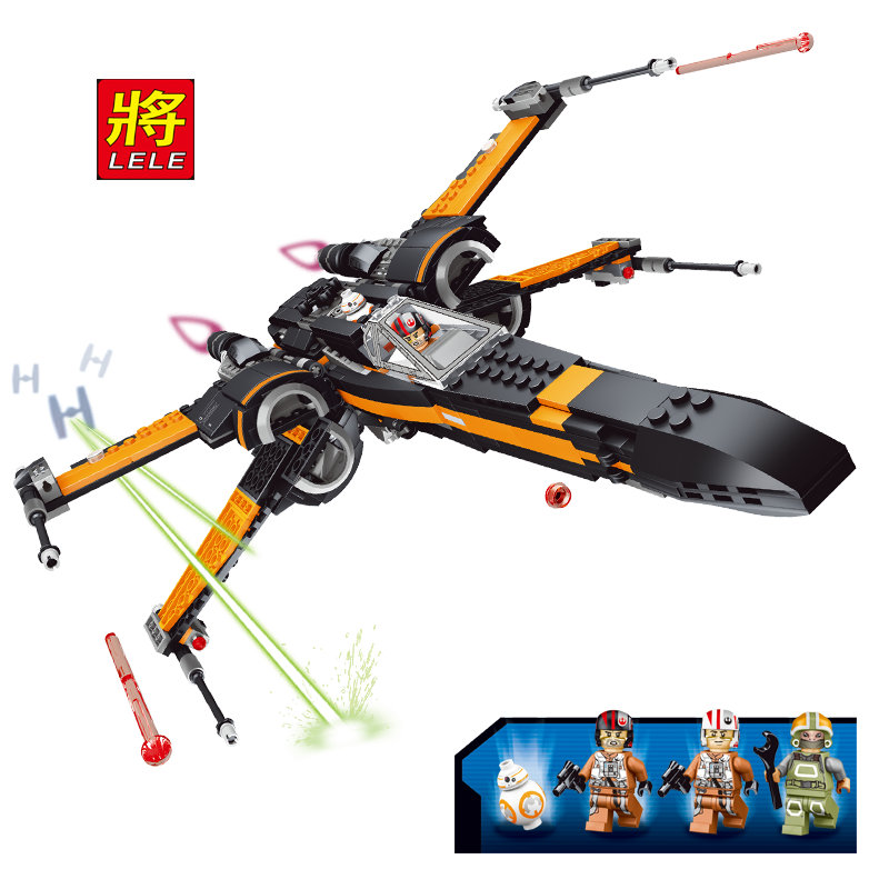 ФОТО 735Pcs Star Educational Building Blocks Toys For Children Kids Gifts War Hero X-Wing Fighter Poe