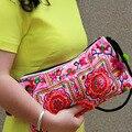 Nacional sacos bordados Feitos À Mão Dupla Face bordado bolsa de ombro mensageiro saco da forma saco de embreagem pequena bolsa das mulheres
