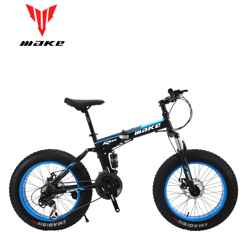 Make steel folding frame Fatbike 20 wheel 24 speed SHIMANO