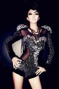 Image 5 - Новый костюм Стразы для джазовых представлений, модное высококачественное танцевальное платье, платья для выступлений, одежда для ночного клуба