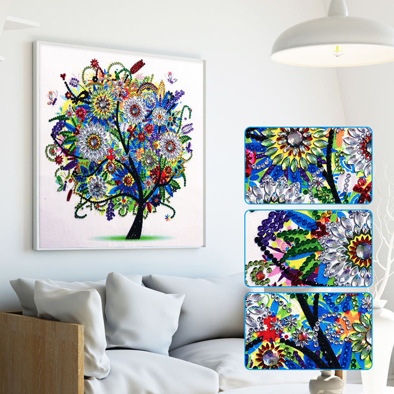 RUBOS DIY 5D Diamond Embroidery Colorful Tree Butterfly Bead Diamond Painting Cross Stitch Pearl Crystal Sale Hobby Gift Decor (14)
