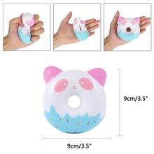 10 CM 귀여운 Squishy 도넛 크림 향한 슈퍼 천천히 상승 전화 스트랩 짜기 장난감 선물